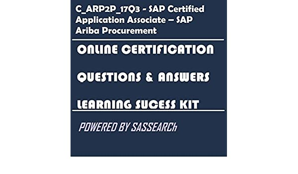 Amazon.com: C_ARP2P_17Q3 - SAP Certified Application Associate – SAP ...