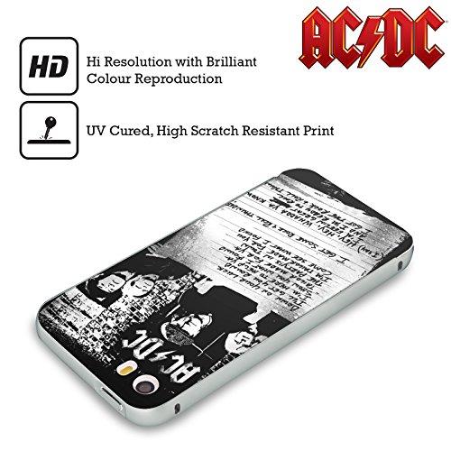 Officiel AC/DC ACDC A Obtenu Un Certain Tonnerre De Rock 'n' Roll Paroles Argent Étui Coque Aluminium Bumper Slider pour Apple iPhone 5 / 5s / SE