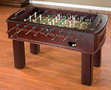 American Heritage Carlyle Series 390001 Tournament Size And Quality Foosball  Table With Two Ball Returns Adjustable