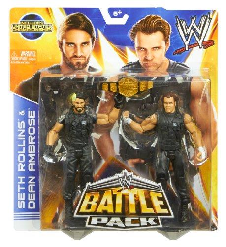 WWE Battle Pack Seth Rollins vs. Dean Ambrose Action Figure, 2-Pack