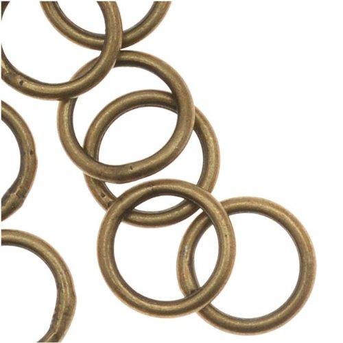 Beadaholique Antiqued Brass Closed 7mm Jump Rings 19 Gauge (20)