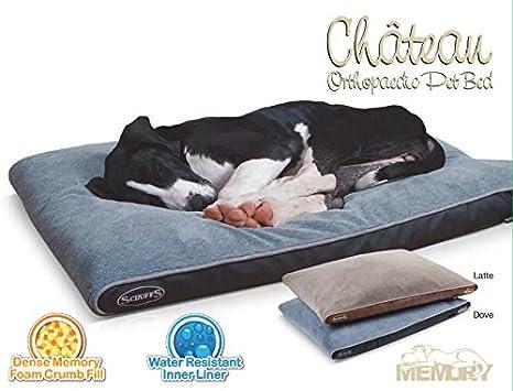 Scruffs – Chateau de espuma de memoria colchón ortopédico cama para perro (elegir tamaño y