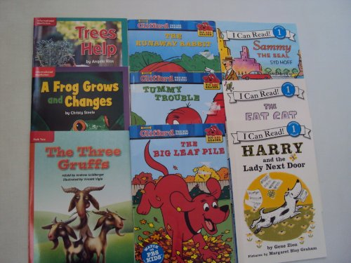 (Book Sets : Level 1 Reading Books : Clifford the Big Red Dog - The Three Gruffs - Sammy the Seal - Harry and the Lady Next Door - Tummy Trouble - (An Unofficial Box Set - Step 1 Books))