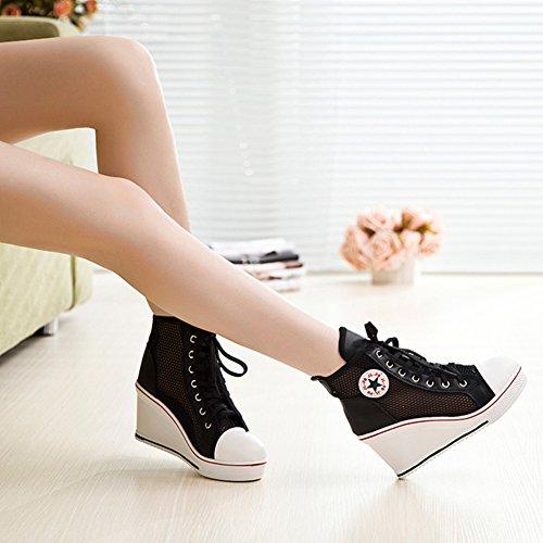 Baskets Noir Pour Femme Mode Kivors 3 Uq8wdU