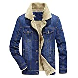 Winter Men Denim Jacket Mens Casual Jacket Men Jacket Slim Fit Denim Coats Male,Blue,4XL