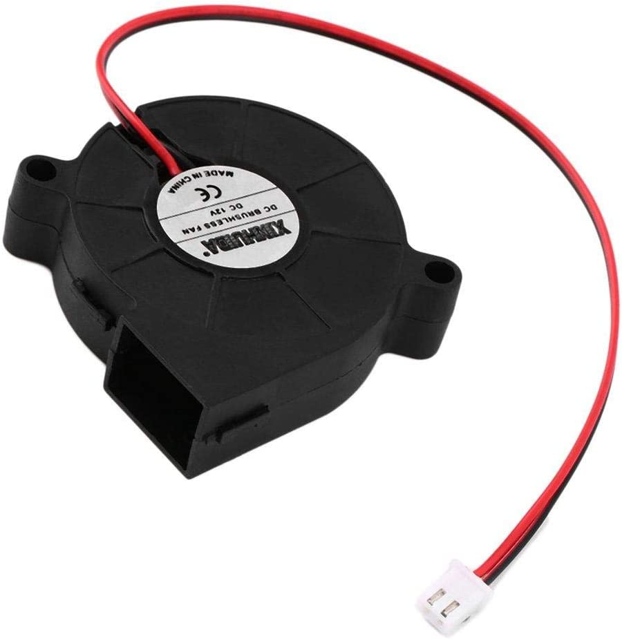 Jowtom Durable DC 12V 50mm Cooling Fan Blow Radial Hotend Extruder for 3D Printer Mini Cooler Turbo Fan Radial