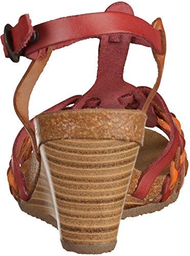 50 548980 Sandale femmes Kickers Marron Rouge pT5xf0WqWw