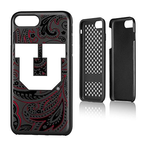 Keyscaper KRGD7X-00UT-PAISL1 Utah Utes iPhone 8 Plus / 7 Plus Rugged Case with U of U Paisley - Utes Satin Utah