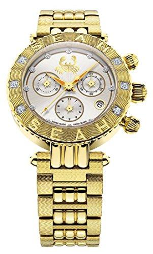 Seah-Galaxy-Zodiac-sign-Cancer-Limited-Edition-38mm-Yellow-Gold-Tone-Swiss-Made-Luxury-12-carat-Diamond-Watch