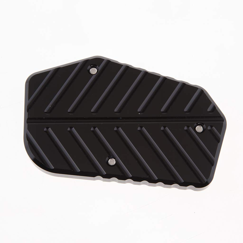 Black Homyl Motorcycle Kickstand Foot Side Stand Extension Pad Support Fits for SUZUKI V-STROM1000 Helps Park
