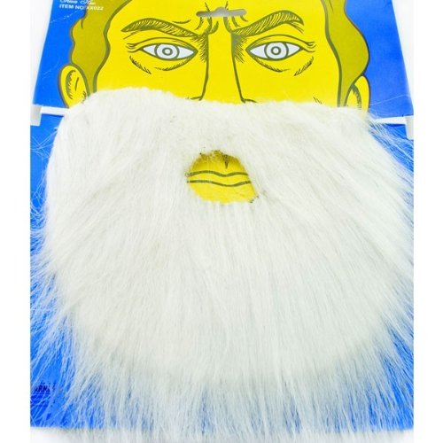 Mens Papa Smurf Costumes (White Fake Beard For Fancy Dress Costume)
