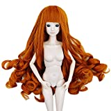 EVA BJD 4inch 5inch Toy Hair Wigs For 1/6 Barbie Doll Wigs & BJD Doll Wigs Flexible Accessory (Orange red)