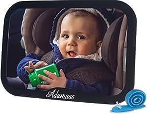 Espejo retrovisor de beb para el coche adamass tope de for Espejo seguridad bebe