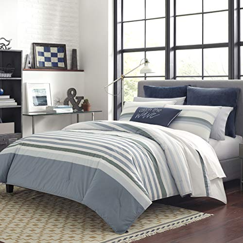Nautica Lansier Comforter Set, Twin, Grey