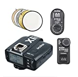 Godox X1T-S 2.4G TTL Wireless Flash Transmitter with XTR-16 XTR-16S Receiver Kit with 32'' 5 in 1 Reflector for Sony DSLR Cameras