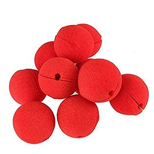 Appropriative Costume - Rivoean 100 Pcs/Lot Novelty Sponge Ball Red Clown Magic Nose for Halloween Party Masquerade Costume Ball