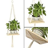 Macrame Plant Hanger,Hanging Shelf Planter,Modern Home Decor for Hanging Succulent and Other Indoor/Outdoor Plants,Decorative Flower Pot Holder, for Succulents, Cacti, Herbs, Small Plants