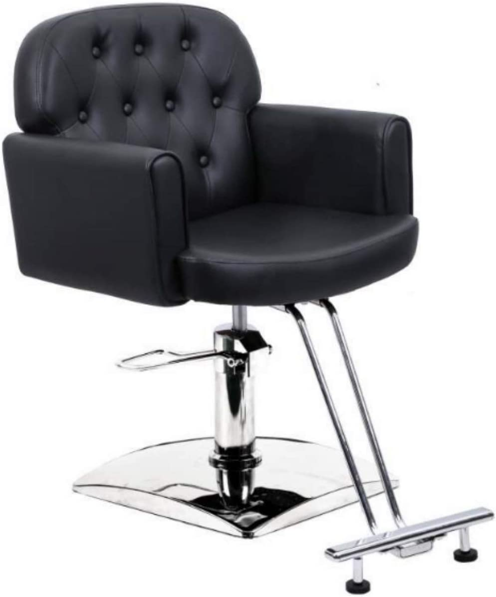 Salon Style Hair Cutting Styling Dyeing with Oil Pump and Foot Rest  Hydraulic Barber Chair Styling Salon Work Station Chair