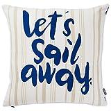 Hallmark Nautical Let's Sail Away Throw Pillow, 18x18 Pillows & Blankets