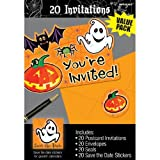 "Toys : Family Friendly Halloween Scared Silly Invitations Party Favour, Paper, 6"" x 4"" Pack of 20"