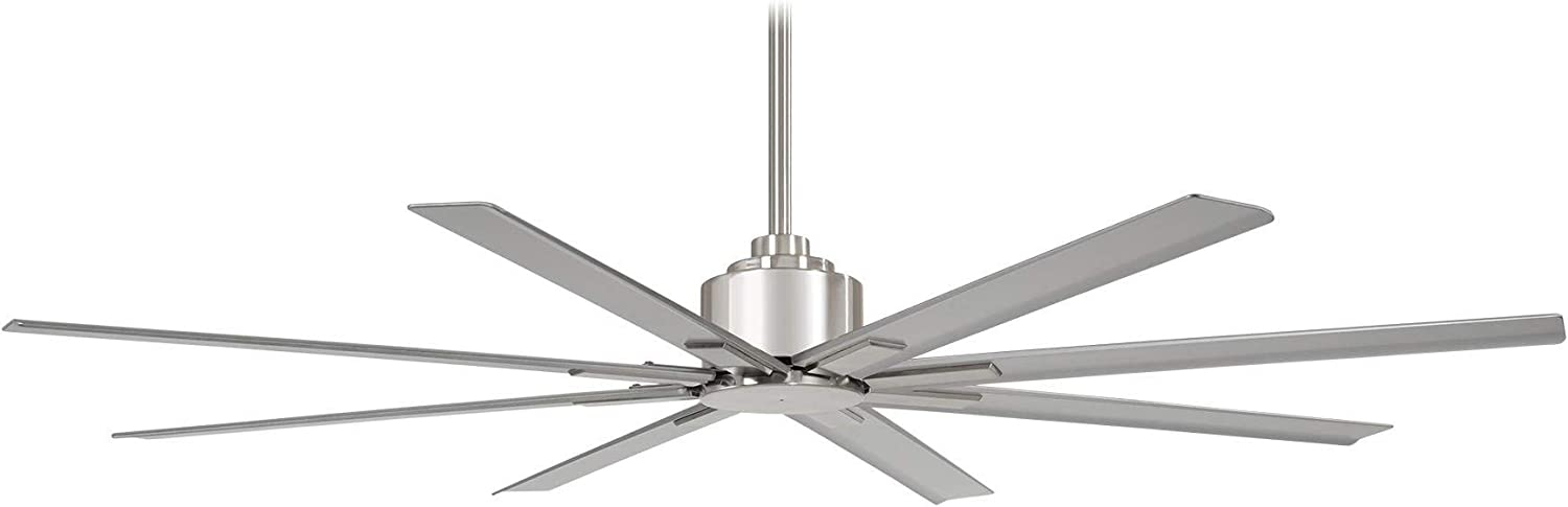 """Minka-Aire F896-84-BNW, Xtreme H2O 84"""" Ceiling Fan, Brushed Nickel Wet Finish with Silver Blades"""