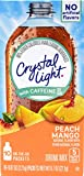 Crystal Light On The Go Peach Mango With Caffeine Drink Mix, 10-Packet Box (Pack of 45)
