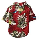 CT COUTUDI Hawaiian Dog Shirts Aloha Dog Shirt Pet Summer Cool Summer Flower Pineapple Shirt for Small to Medium Puppy Dog Cat Larger Image