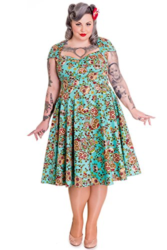 Hell-Bunny-Plus-Calavera-Day-of-the-Dead-Flower-Sugar-Skull-Flare-Party-Dress