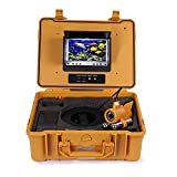 Wsdcam 7'' Color LCD Monitor Fish Finder System 800tvl CCD Waterproof DVR Camera Fishing 100m Cable Underwater Fishing Camera with Carry Case