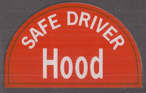 Hood Dairy Safe Driver laminated fabric-backed emblem 1980s