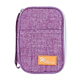 HENGSONG Multi-Functional Ticket Passport Credit Card ID Document Organizer Holder Bag Purse Travel Pouch Case Cover,Purple
