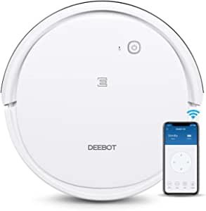 ECOVACS DEEBOT 501 Smart Robotic Vacuum Cleaner Max Model for All Floor Types with Wi-Fi Connectivity, Selective Cleaning Modes, 120 min working time,Compatible with Alexa