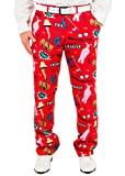 Men's A Christmas Story Leg Lamp Fragile Holiday Suit Pants in Red By Festified (34)
