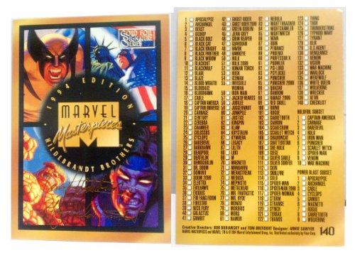 1994 Edition Marvel Masterpieces Hildebrandt Brothers Gol...