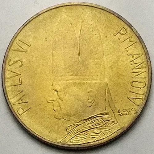 (VATICAN 1966 20 LIRE SCU3139....WORLDWIDE COIN )