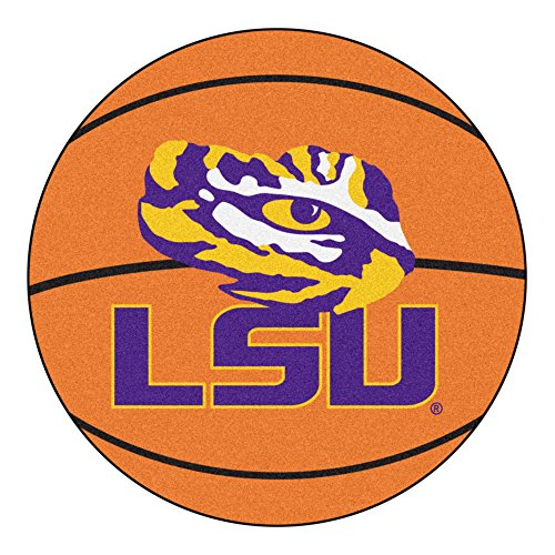 NCAA Louisiana State University Tigers Basketball Shaped Mat Area Rug ()
