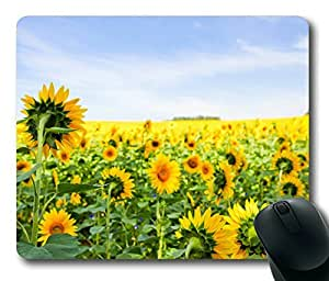 Field of Sunflowers Rectangle mouse pad Your Perfect Choice