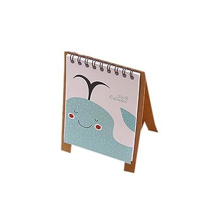 2018 escritorio calendarios Flip Stand mesa oficina planificador ...