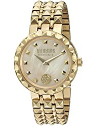 Versus by Versace Womens CORAL GABLES Quartz Stainless Steel Casual Watch, Color:Gold-Toned (Model: SOD140016)