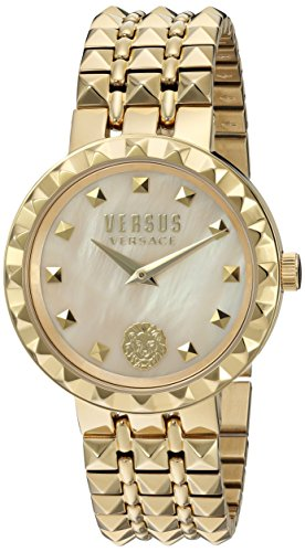 Versus by Versace Women's 'CORAL GABLES' Quartz Stainless Steel Casual Watch, Color:Gold-Toned (Model: - Lion Logo Versace