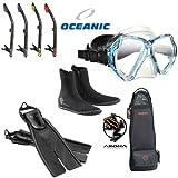 Oceanic Basic Package w/ Mask, Fins, Snorkel, Boots, Bag
