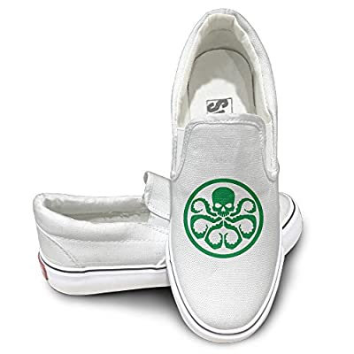 MGTER66 Hydra Logo Street Dance Slip On Sneaker Unisex Style Color White