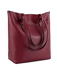 UTO Women PU Leather Tote Bag Large Capacity Shoulder Bags Waterproof ANTI-Scratch Handbag