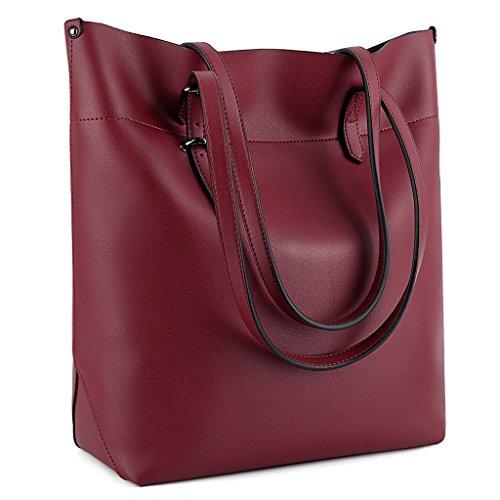 UTO Shoulder Capacity Shopper Leather