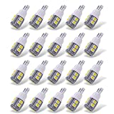 YITAMOTOR 20 Pack White T10 168 194 Wedge LED Light Bulbs, W5W 2825 158 192 175 162 Replacement LED Interior Lights Bulb for Trucks Car License Plate/Map/Dome/Trunk/Light Bulb, 10-SMD, 12v