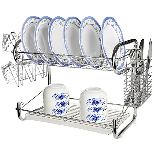 MyGift Chrome Storage Drainer Cutlery
