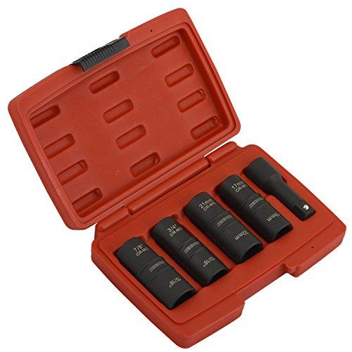 "NEW Flip Impact Socket | 5pc Pro Set Thin Wall 1/2"" inch Drive Metric SAE | 8 Sizes"