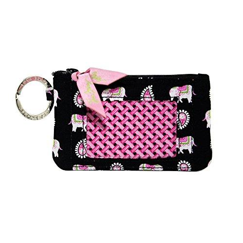 Vera Bradley Zip ID Card Case (pink elephants)