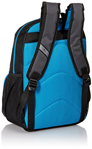 51OdLbYId7L - PUMA Boys' Little Backpacks and Lunch Boxes, Black/Blue, Youth