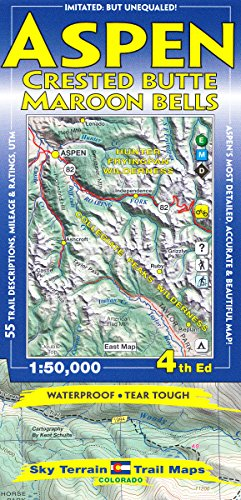 - Aspen, Crested Butte & Maroon Bells Trail Map 4th Edition